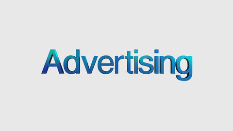 3D Text animation 'Advertising' for topic introduction in Powerpoint presentatio Animation