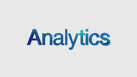 3D Text animation 'Analytics' for topic introduction in Powerpoint presentatio Animation