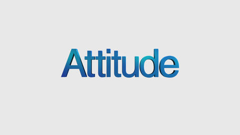 3D Text animation 'Attitude' for topic introduction in Powerpoint presentatio Animation