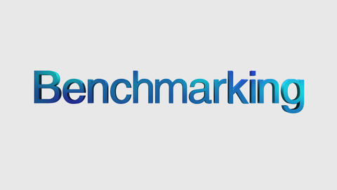 3D Text animation 'benchmarking' for topic introduction in Powerpoint presentati Animation