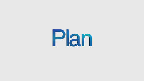 3D Text animation 'Plan' for topic introduction in Powerpoint presentations Animation