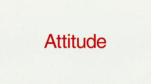 Text animation 'Attitude' for topic introduction in Powerpoint presentations Animation