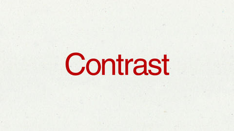 Text animation 'Contrast' for topic introduction in Powerpoint presentations Animation