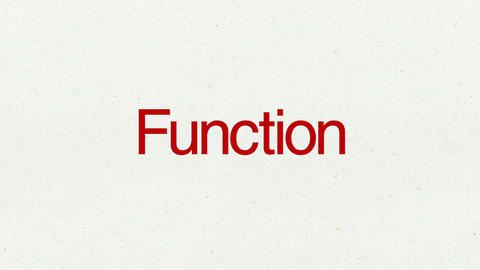 Text animation 'Function' for topic introduction in Powerpoint presentations Animation