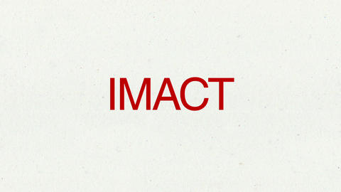 Text animation 'IMACT' for topic introduction in Powerpoint presentations Animation