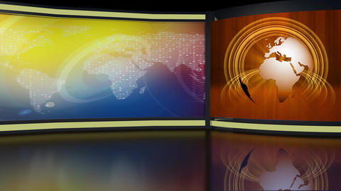 News TV Studio Set 264- Virtual Background Loop ライブ動画