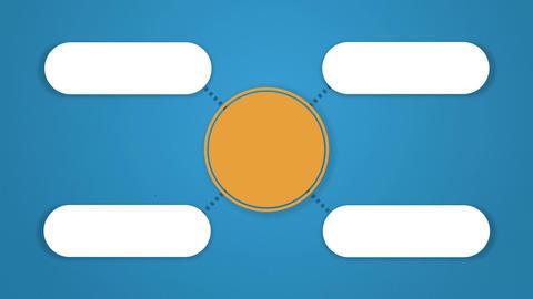 Circle tree diagram for presentation.typo topic box. 4 Animation
