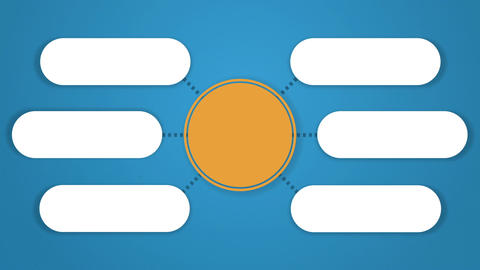 Circle tree diagram for presentation.typo topic box. 6 Animation
