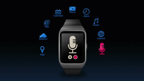 Various application function for smart watch(included Alpha) CG動画素材