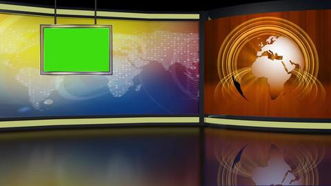 News TV Studio Set 265- Virtual Background Loop ライブ動画