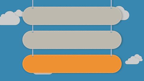 Presentation head bar.Falling typo box 3 Animation