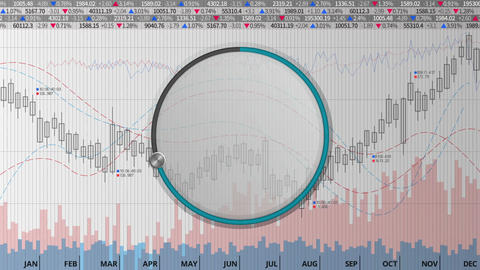Indicate about 70 percents circle dial on various…, Stock Animation