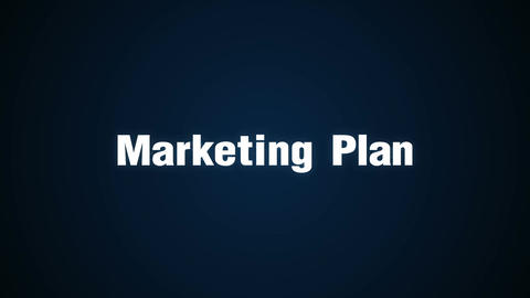 Branding, Solution, Customers, Campaign, Success, Text animation 'Marketing Plan Animation