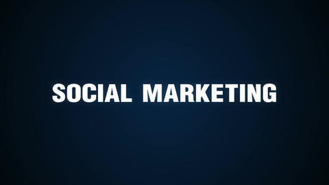 Blog, Follow, Communication, Message, Goal, Text animation ' SOCIAL MARKETING' Animation
