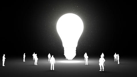 Typo 'Idea' in light bulb and surrounded businessmen,... Stock Video Footage