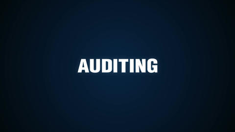 Control, Statistical, Finance, Provide, performance,Text animation 'AUDITING' Animation