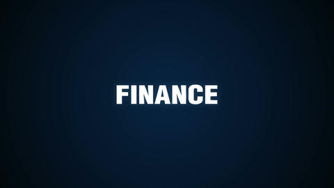 Economics, Statistic, Stock Market, Access, Analytics,Text animation 'FINANCE' Animation
