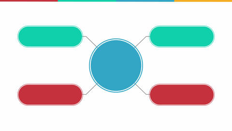 Circle diagram flow chart, five circle.(included alpha) Animation