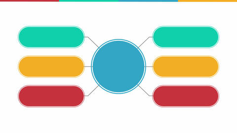 Circle diagram flow chart, seven circle.(included alpha) Animation