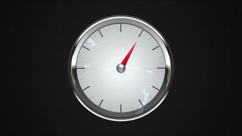 Indicated 1 o'clock point. gauge or watch animation Animation
