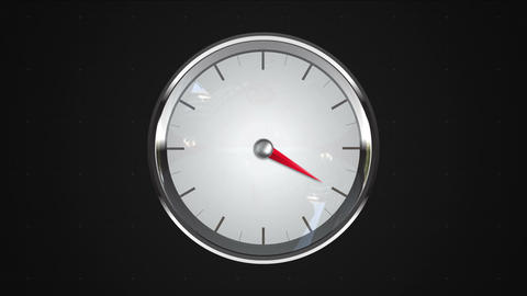 Indicated 4 o'clock point. gauge or watch animation, Stock Animation