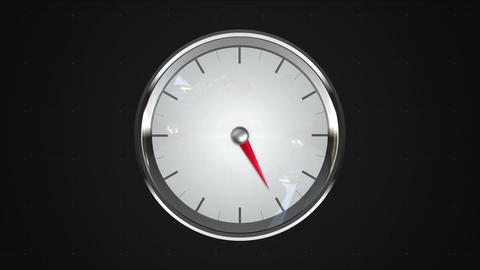 Indicated 5 o'clock point. gauge or watch animation Animation