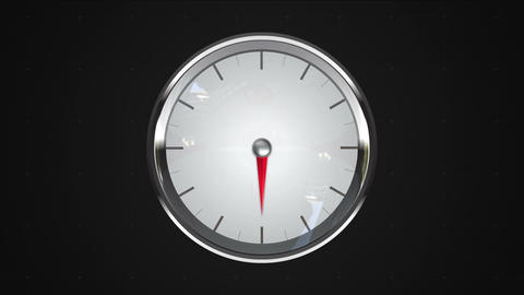 Indicated 6 o'clock point. gauge or watch animation Animation