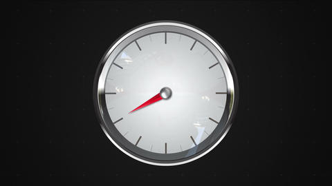 Indicated 8 o'clock point. gauge or watch animation Animation