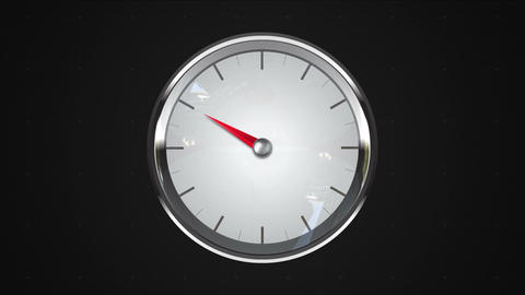 Indicated 10 o'clock point. gauge or watch animation Animation