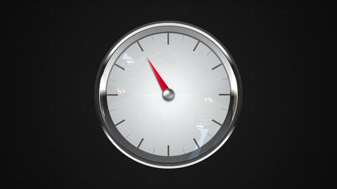 Indicated 11 o'clock point. gauge or watch animation Stock Video Footage