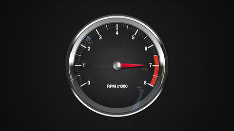Indicated 7 point of RPM gauge. animation.(included alpha) Animation