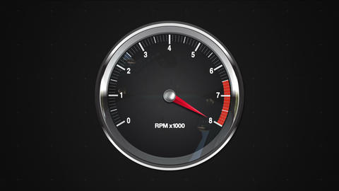 Indicated 8 point of RPM gauge. animation.(included alpha) Animation
