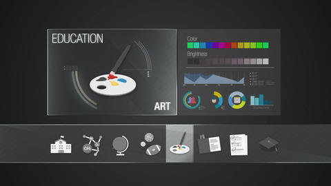 Art icon for Education contents.Digital display application. Education icon Animation