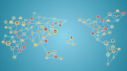 Global business network. social media service.1 Animation