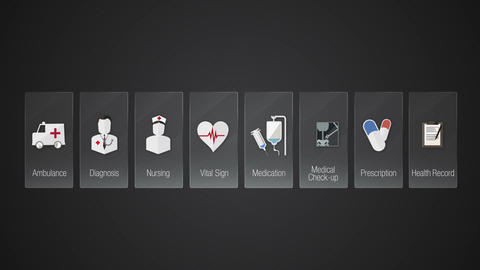 Health Care contents.Technology medical care service.Digital display application Animation