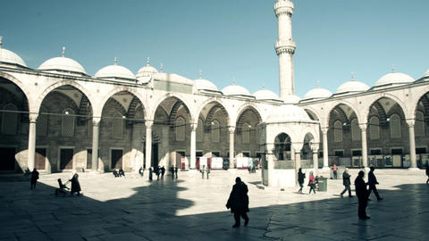 Fantastic view of Blue Mosque (Sultan Ahmet) in Istanbul, Turkey Filmmaterial