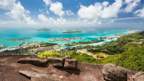 Seychelles Mahe Coastline Timelapse Live Action