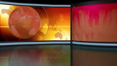 News TV Studio Set 261- Virtual Background Loop ライブ動画