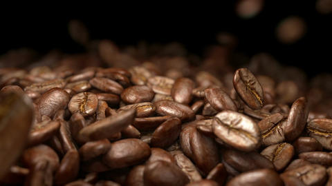 Video of falling coffee beans in real slow motion 1000fps Live Action