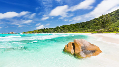 Beach Timelapse, Seychelles in 4K Live Action