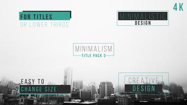 Minimal Title Pack After Effects Template