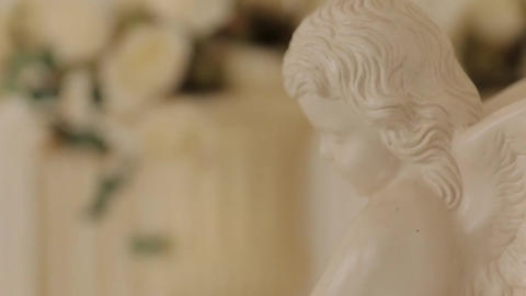 Little Angel Sculpture close up Footage