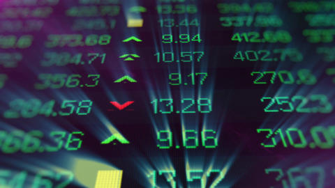 Display of Stock market quotes Animation