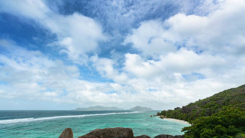 Anse Source D'Argent Timelapse, Seychelles in 4K Footage