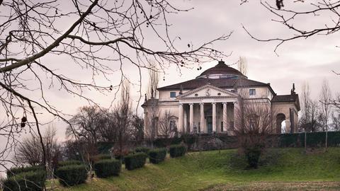 Villa Capra La Rotonda in Vicenza, Italy. Timelapse 4K GIF