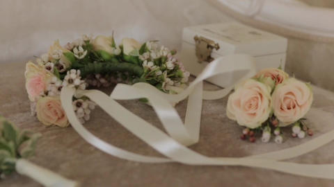 Boutonniere And Wreath 01 Footage