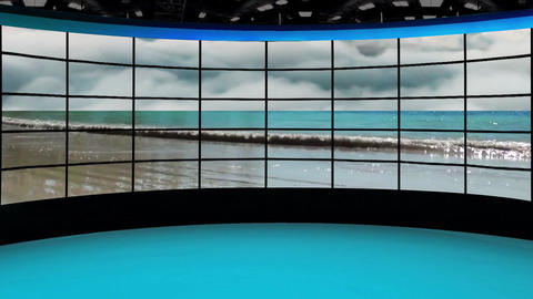 News-36 Broadcast TV Studio Green Screen Background Loopable Animation