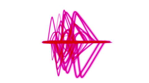 4k Abstract ripple rhythm line background,sound pattern,radar signal technology Live Action