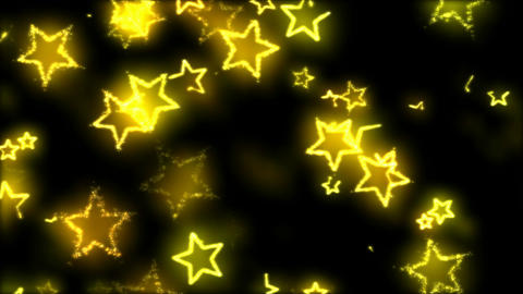 Drawing Star Shapes on Black Background Animation - Loop Yellow Animation