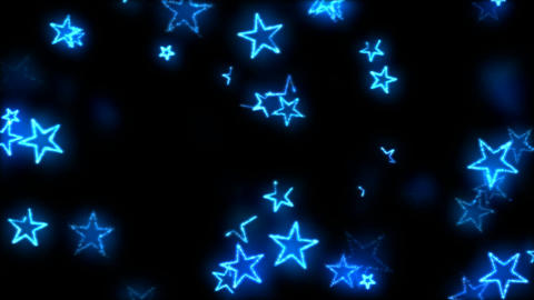 Drawing Star Shapes on Black Background Animation - Loop Blue Animation